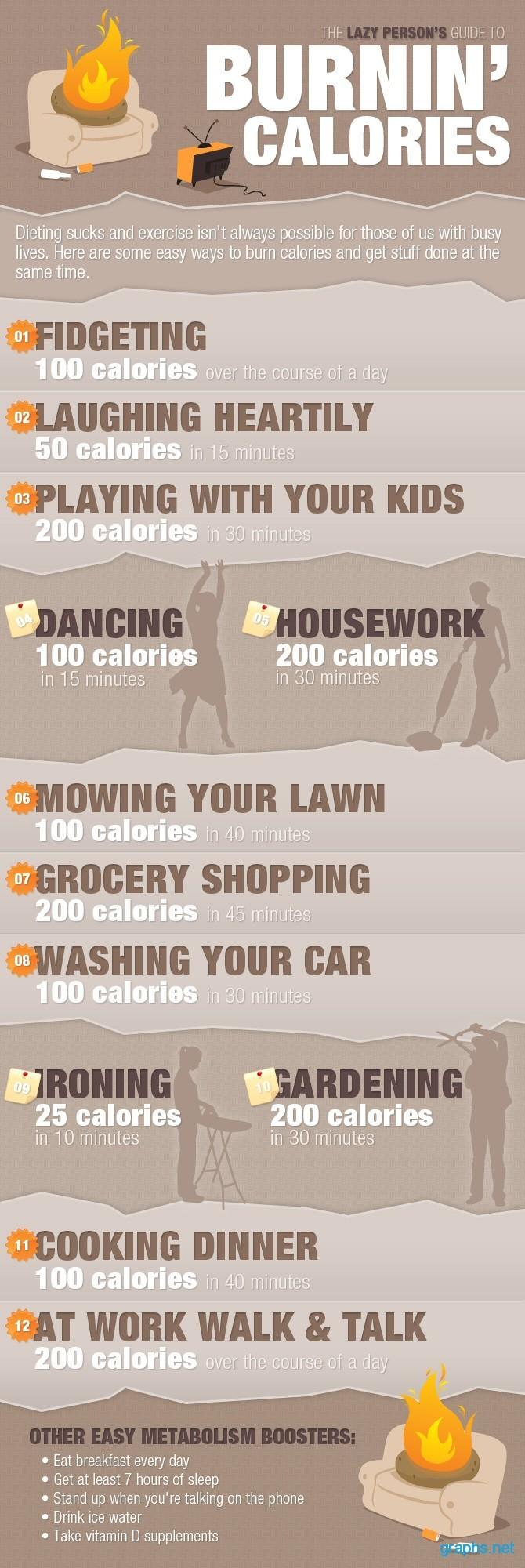 lazy way to burn calories