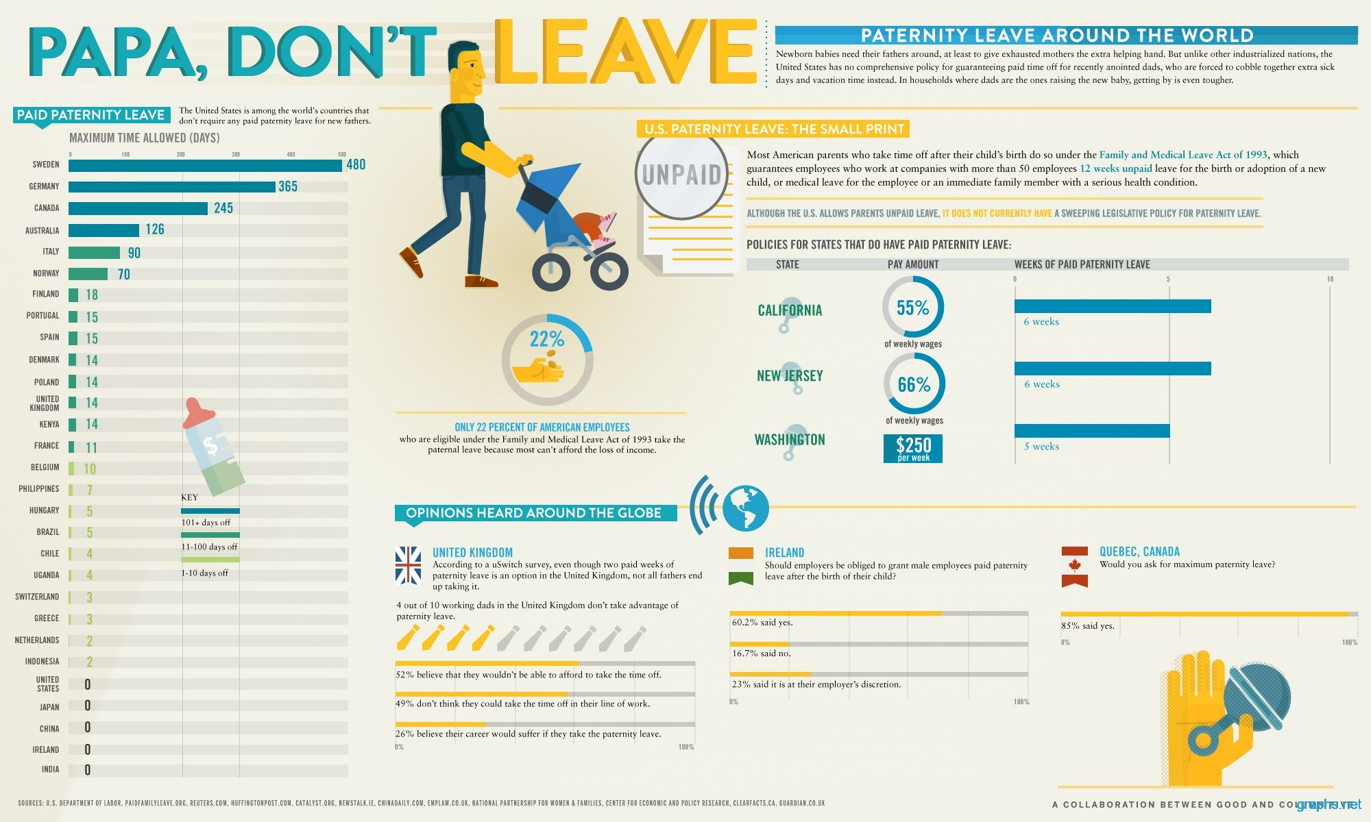 paternity leave fact sheet infographic infographics