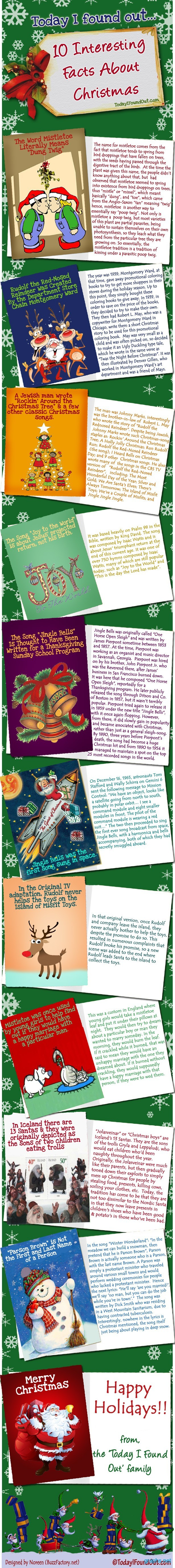 ten interesting facts about christmas