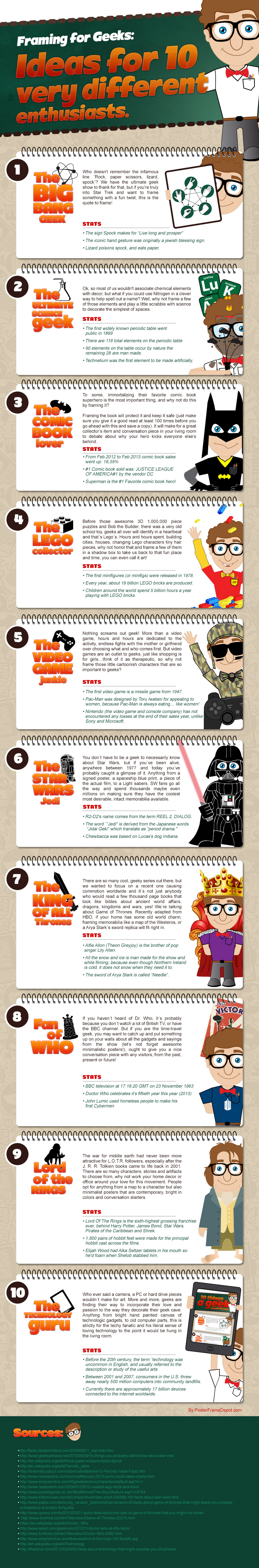 10 Things a Geek Would Frame Infographic