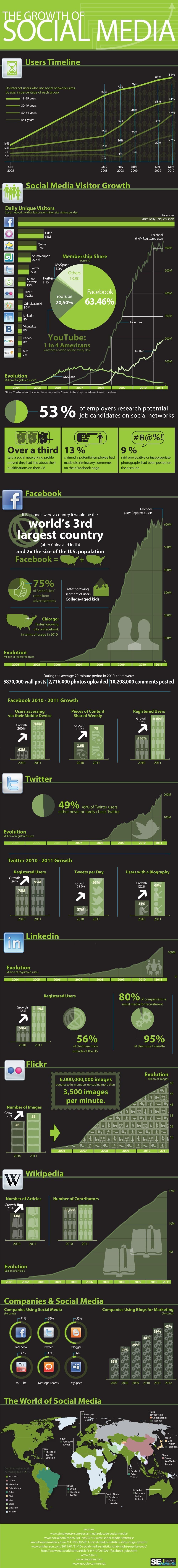 Growth of Social Media Statistics