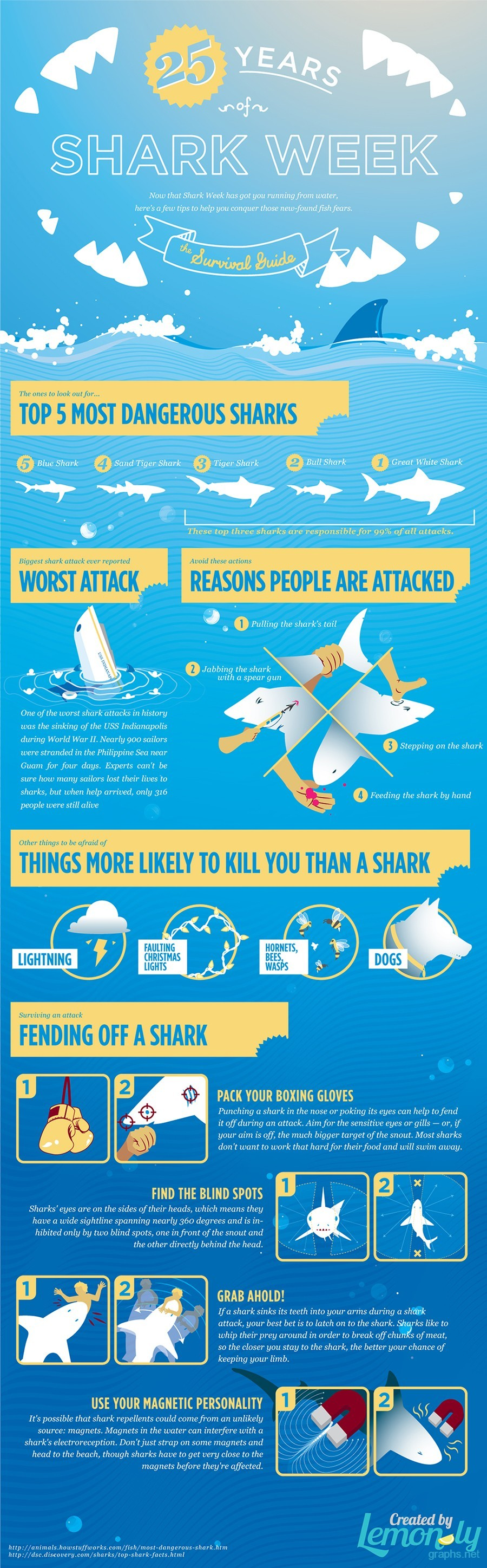 how to survive from shark attack