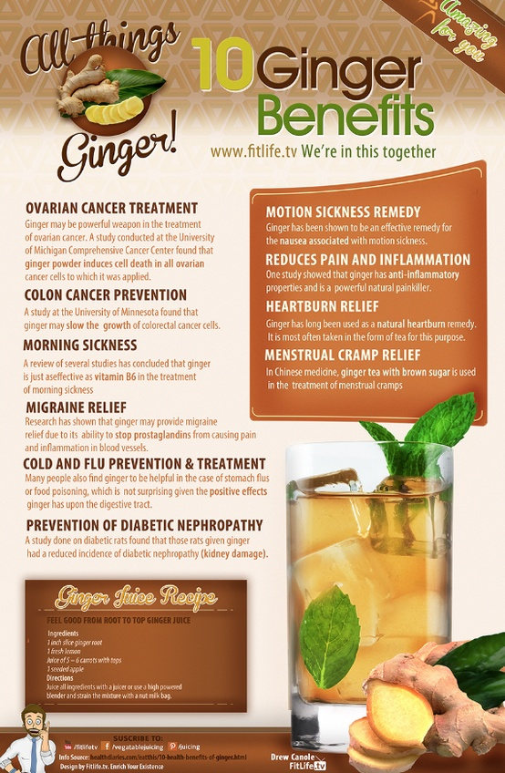 10 Medical Benefits of Ginger