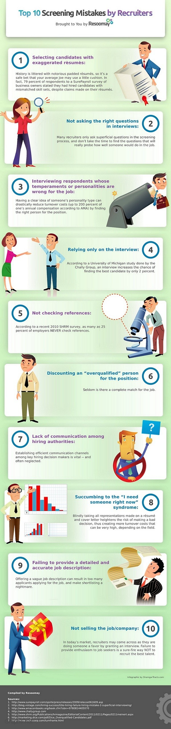 10 Common Mistakes Made By Recruiters