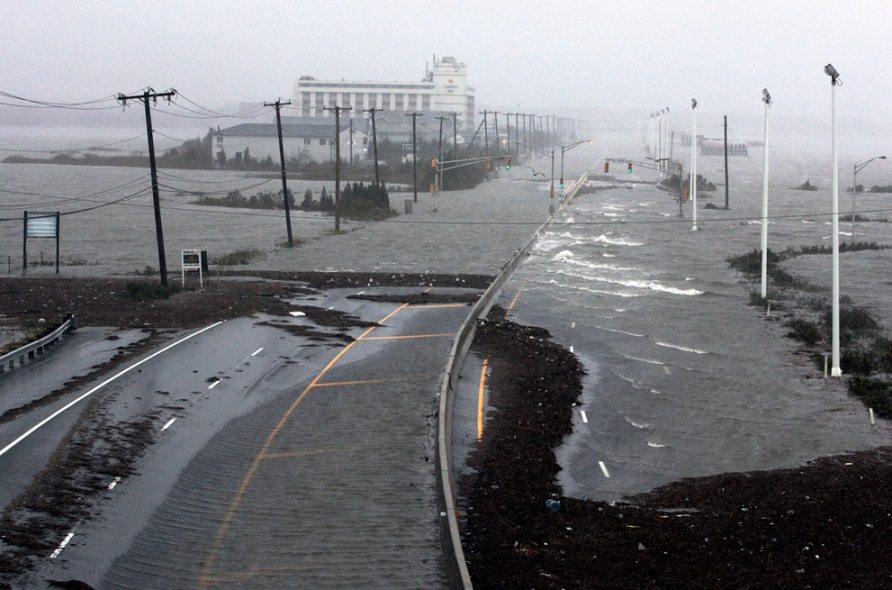 Super Storm Hurricane Sandy Atlantic City New Jersey
