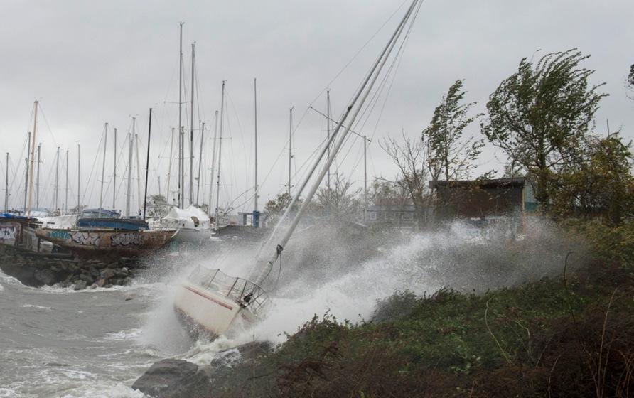 Super Storm Hurricane Sandy City Island Newyork