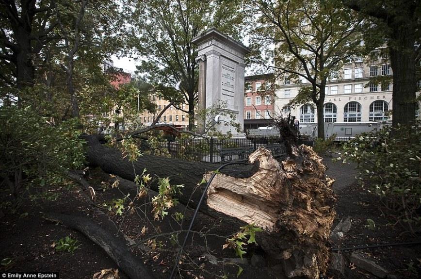 Super Storm Hurricane Sandy East Village New York