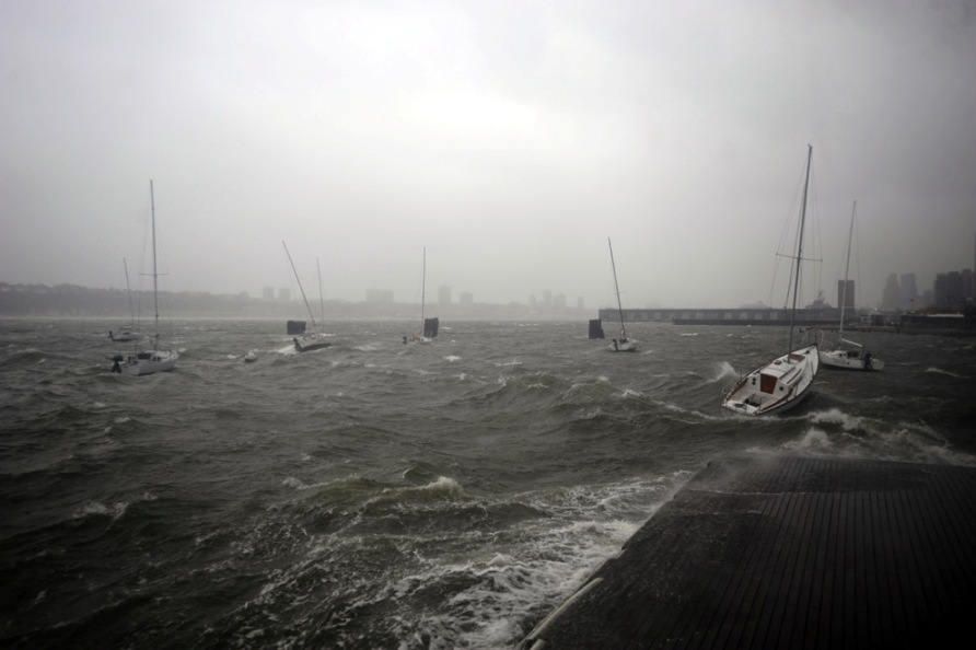 Super Storm Hurricane Sandy Hudson River New York