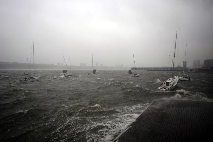 Super Storm Hurricane Sandy Hudson River New York