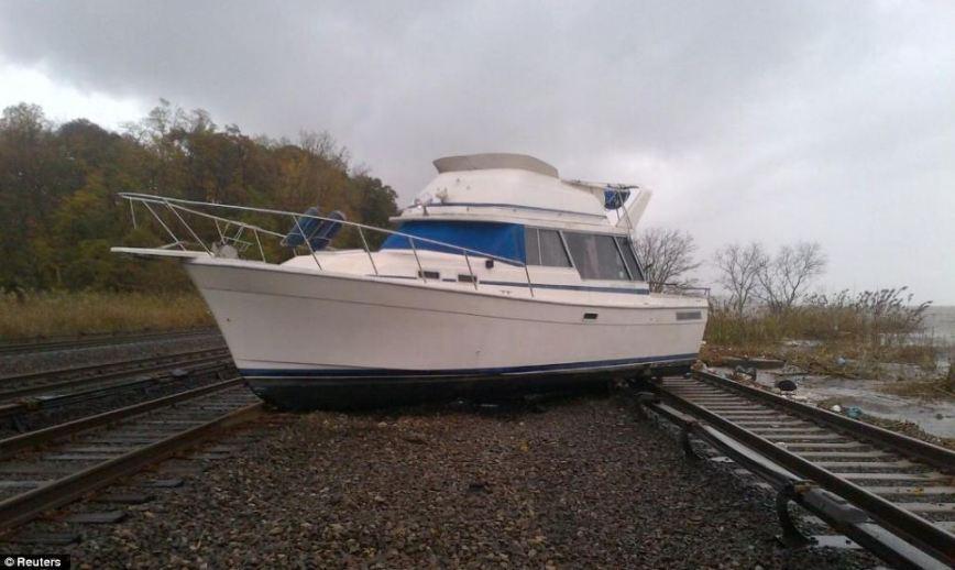 Super Storm Hurricane Sandy Ossining station hudson line