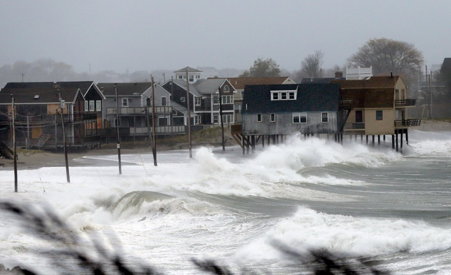 Super Storm Hurricane Sandy in Massachusetts