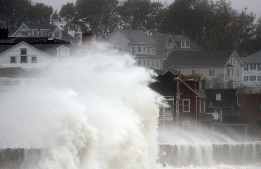 Super Storm Hurricane Sandy in Winthrop Massachusetts