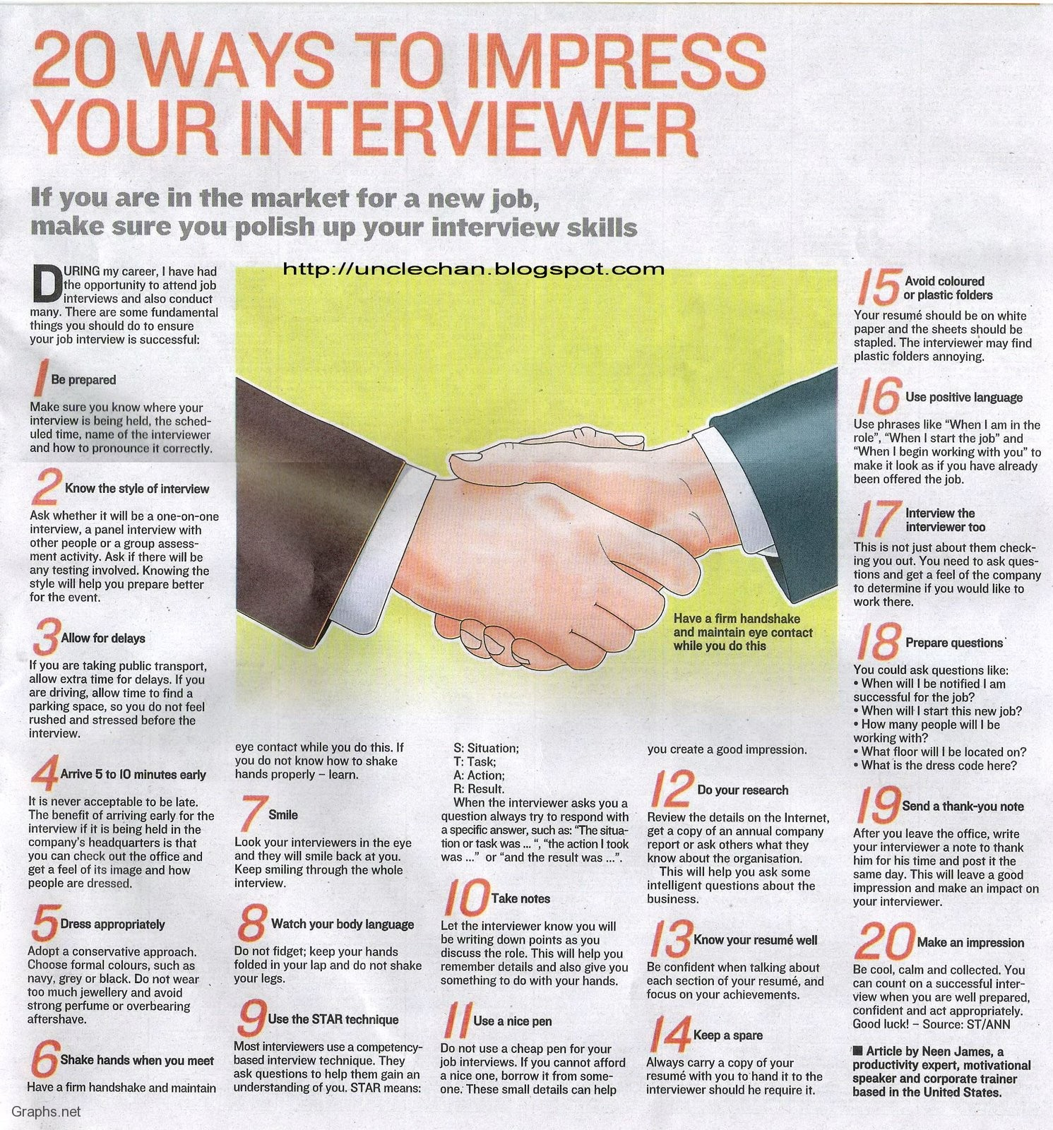 Top 20 Ways To Impress Interviewers