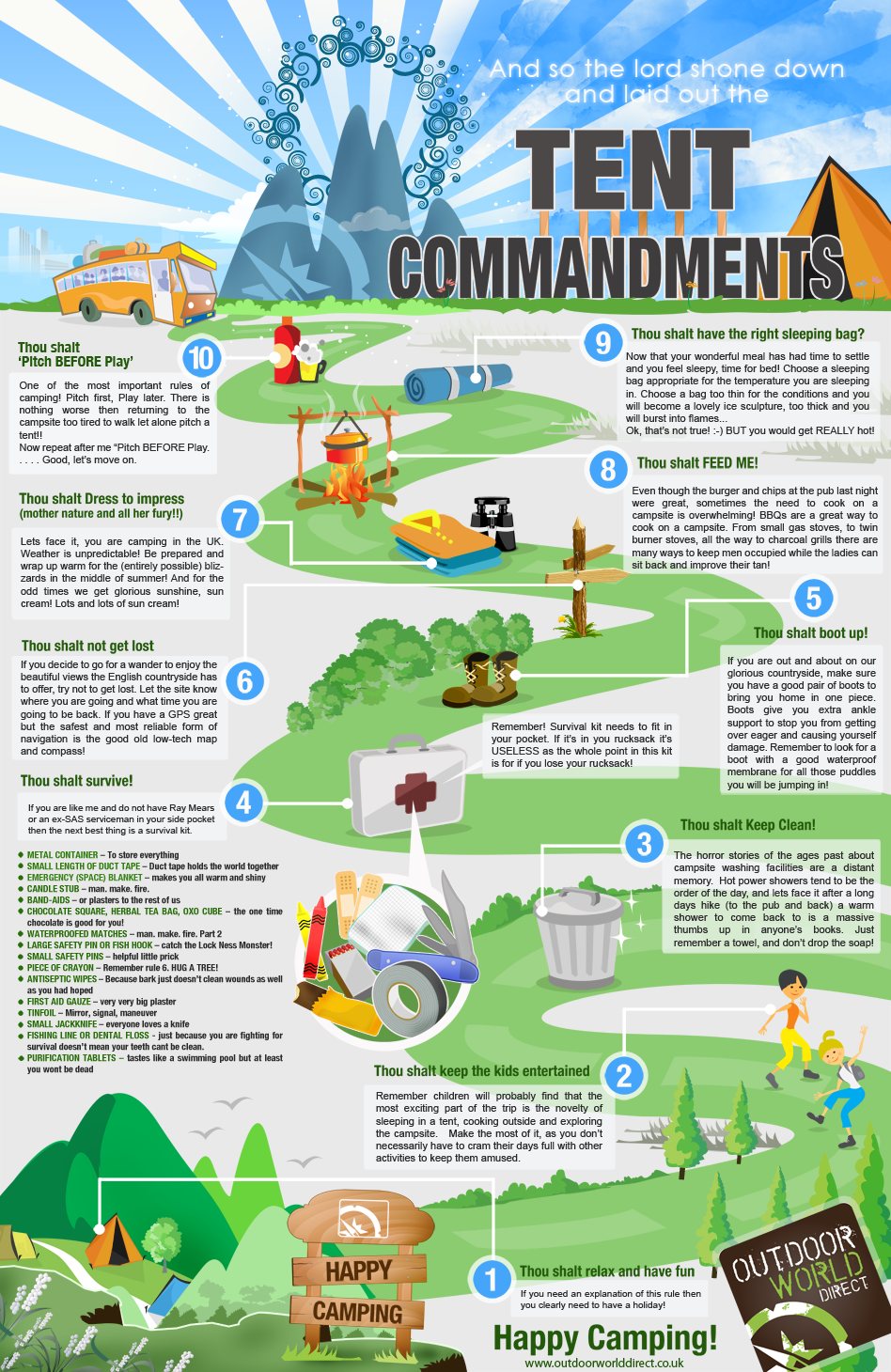 Tent commandments