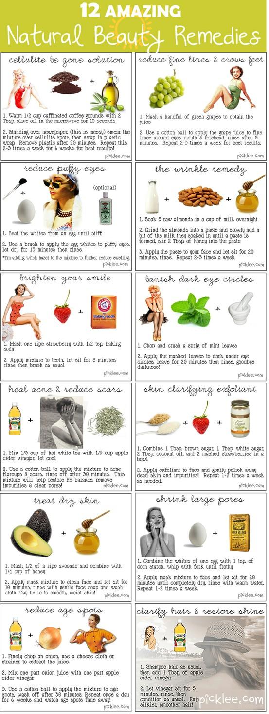 Top 12 Natural Beauty Tips