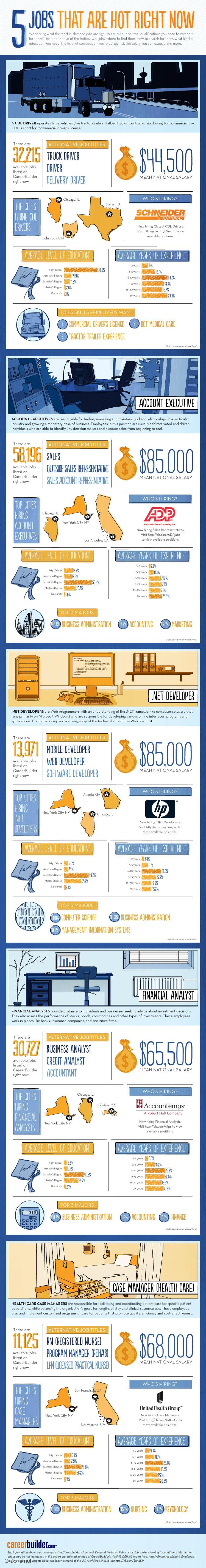Top 5 Jobs in Demand