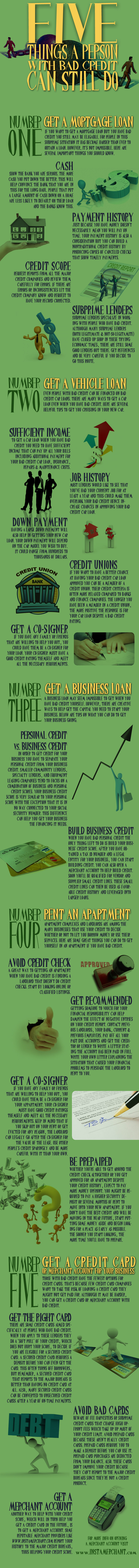 5 Things You Can Do With a Bad Credit