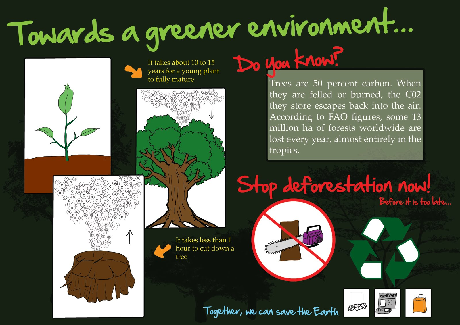 top 6 deforestation infographics