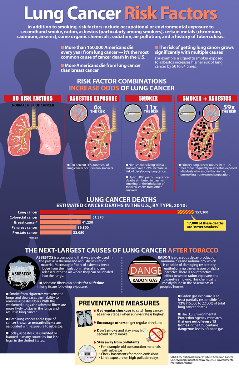 Risk Factors Of Lung Cancer Infographics Graphs Net