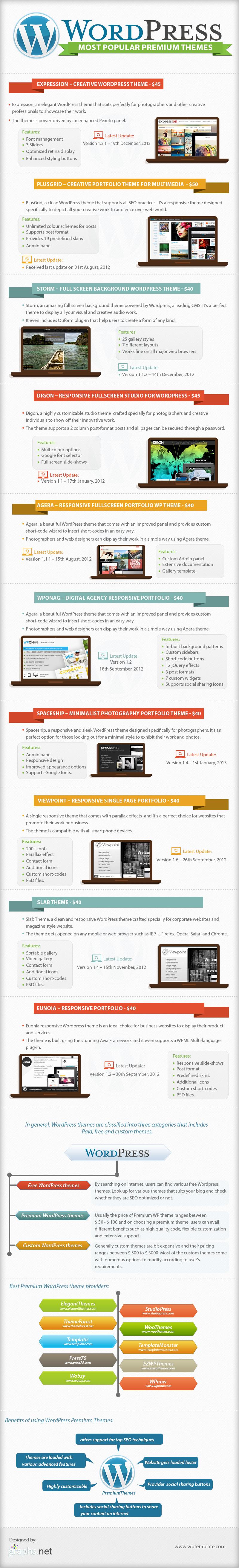 Top Premium Themes of WordPress
