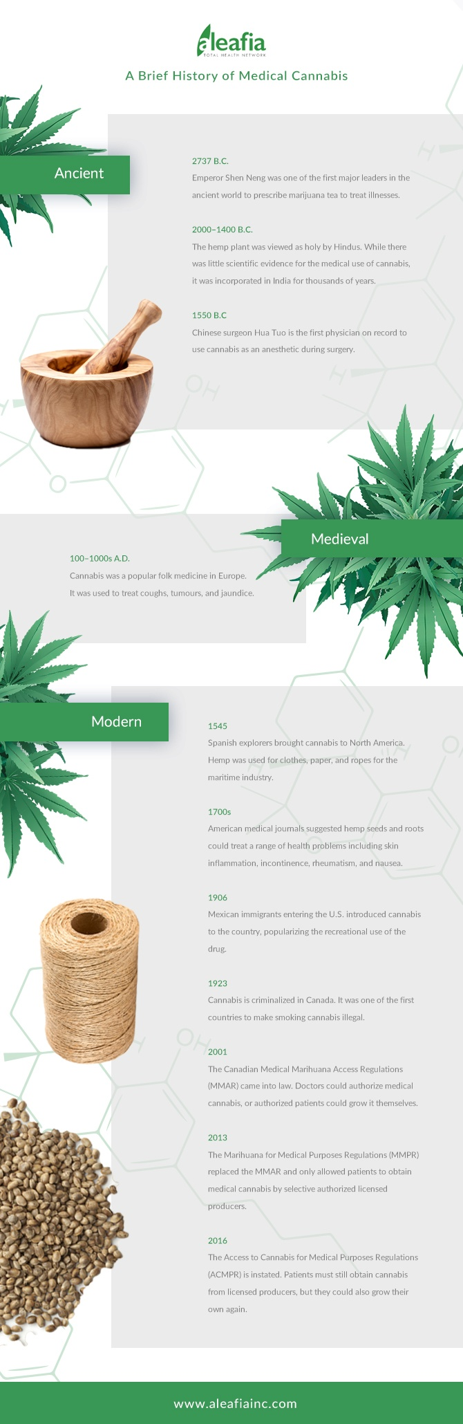 History of Cannabis Infographic