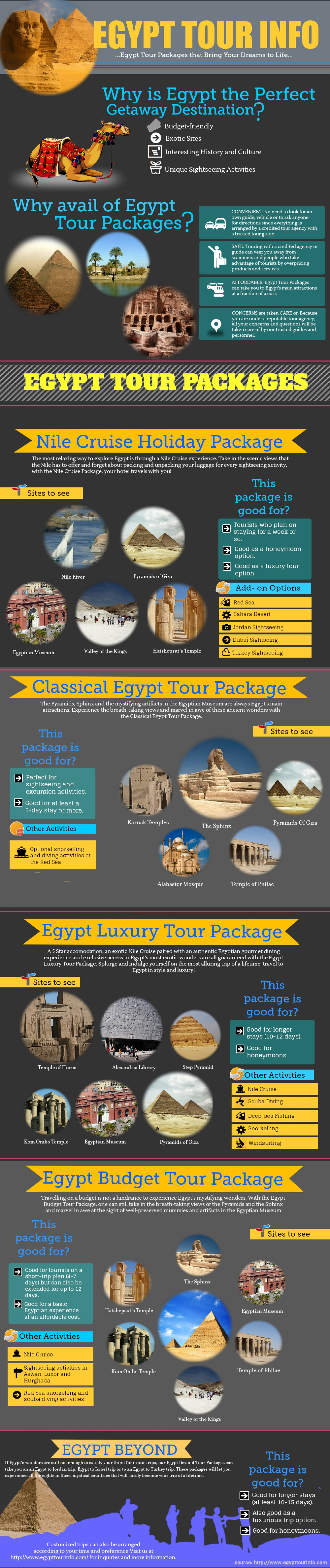 Egypt tour packages will make your dream come true