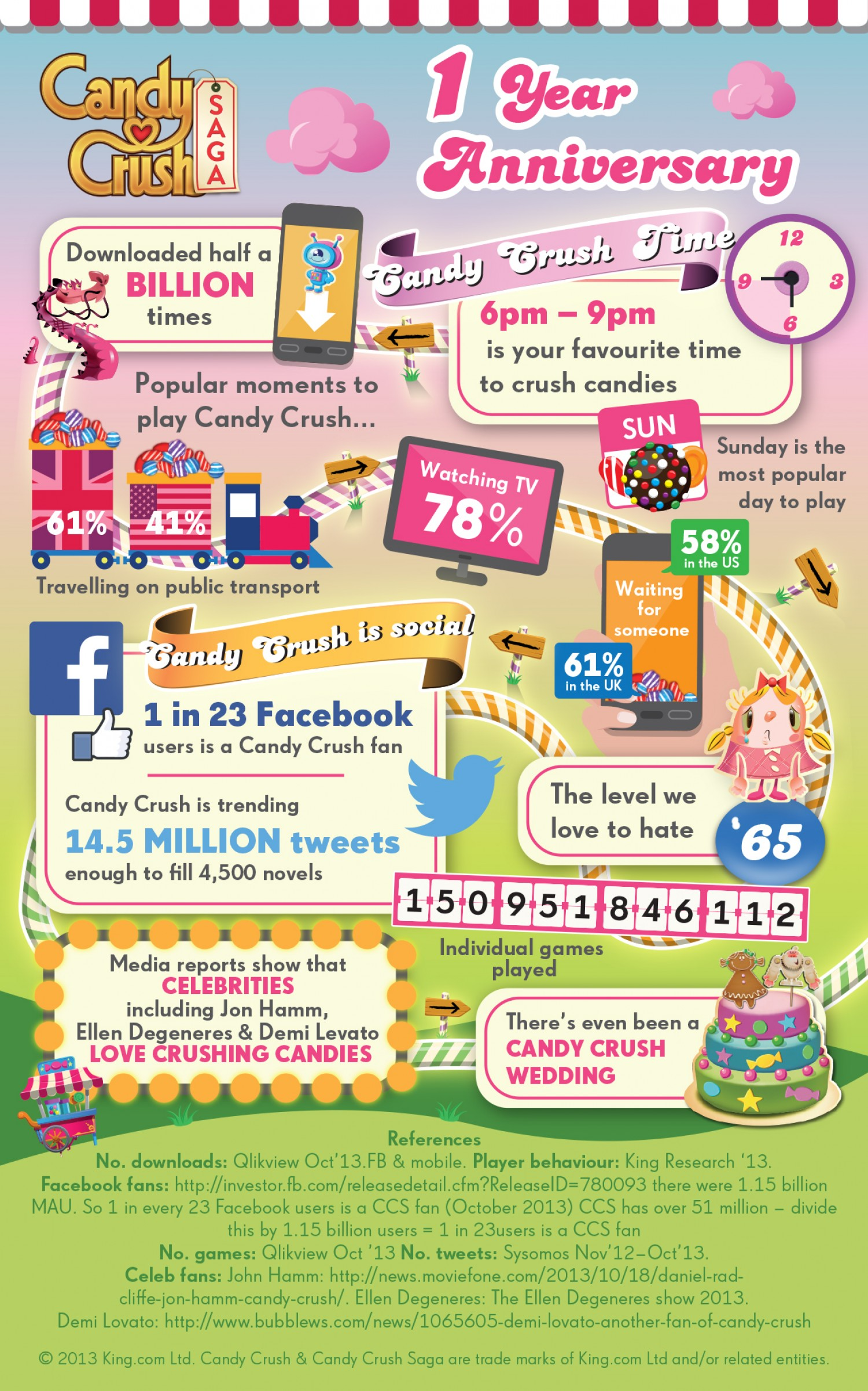 Candy crush 1 year anniversary