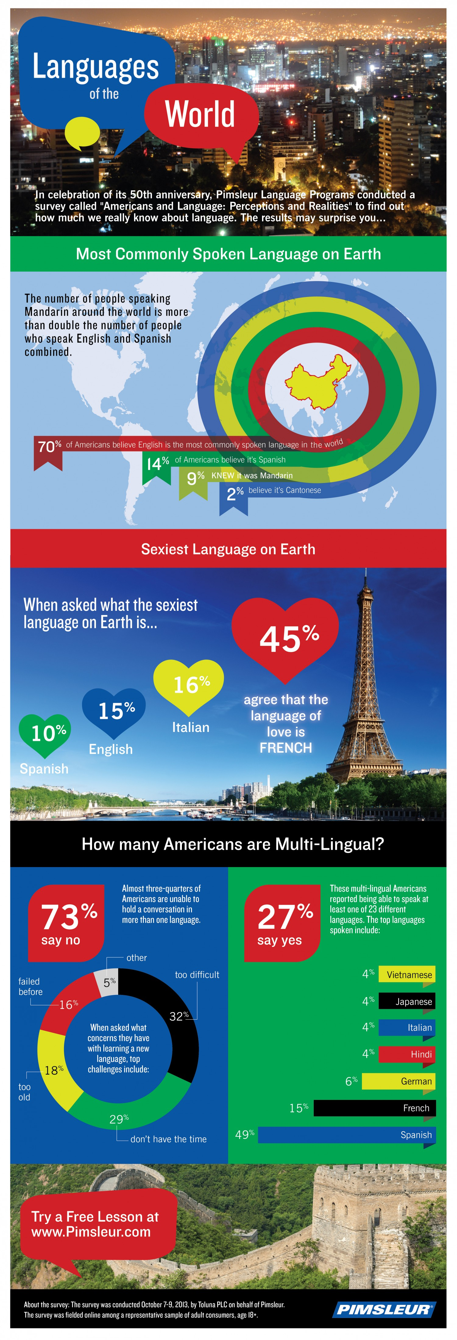 50th Anniversary on Americans and Foreign Language