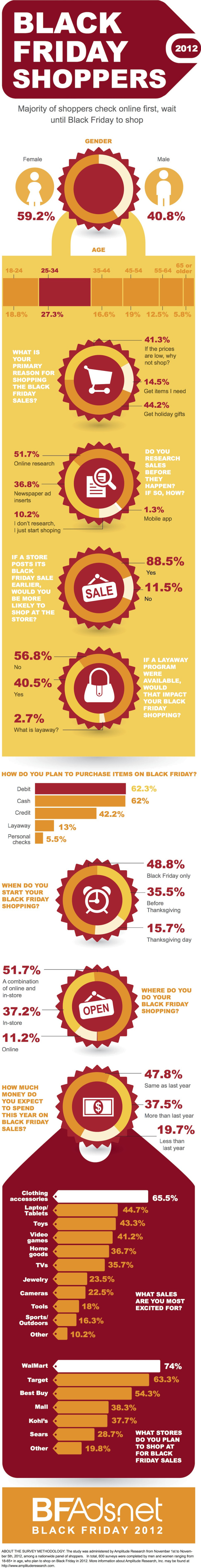 Black Friday shoppers 2012