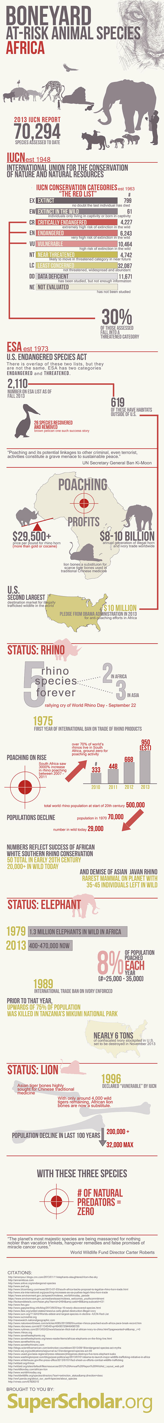 1. How Poaching is threatening to wipe Out Lions, Elephants and Rhinos in Africa