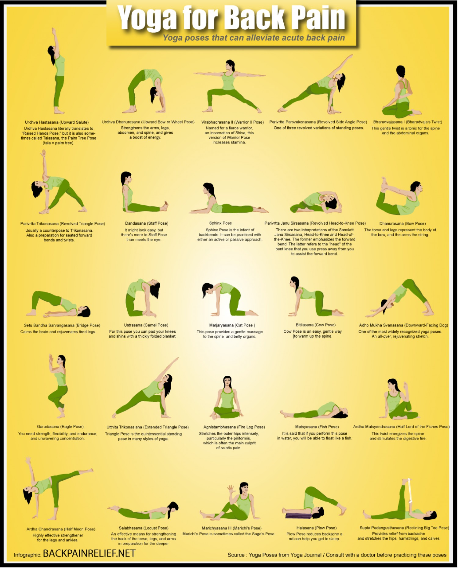 15. Yoga for back pain