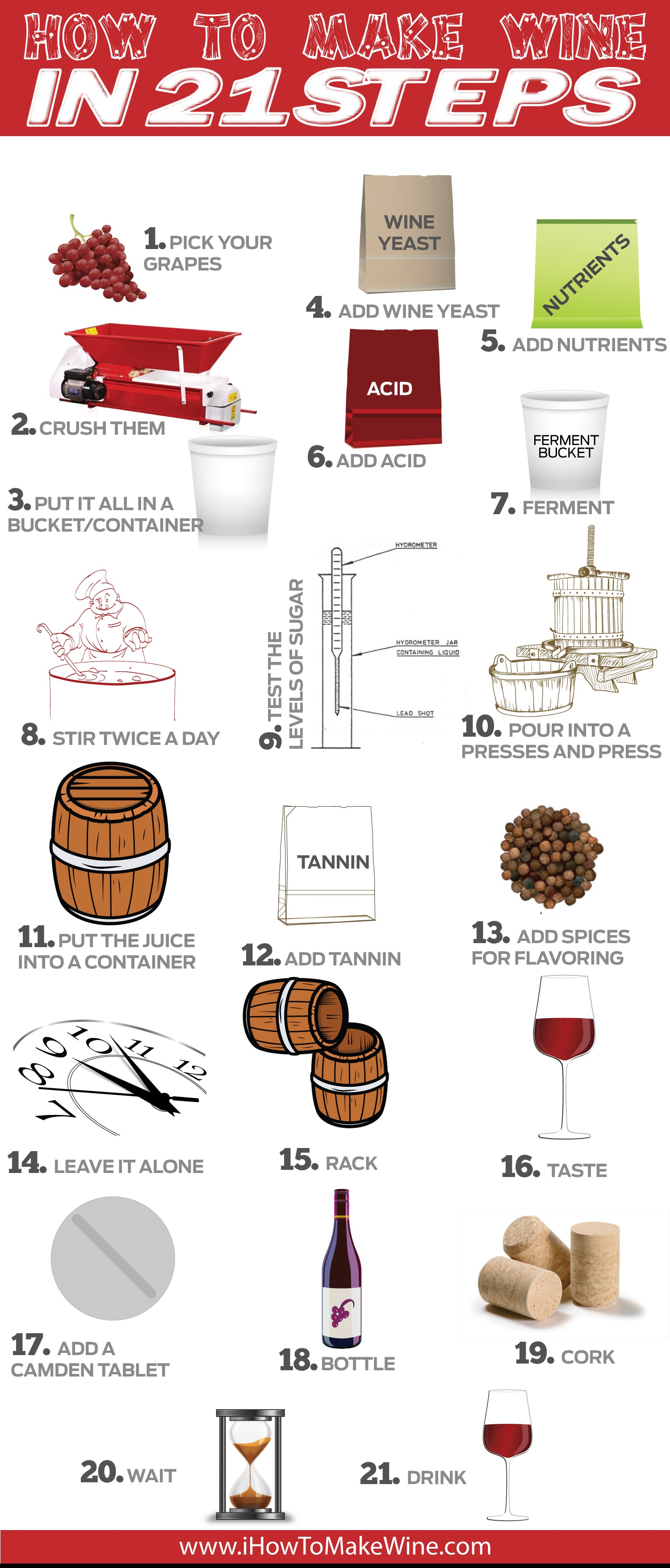 How To Make Wine In 21 Steps Infographics By Graphs Net