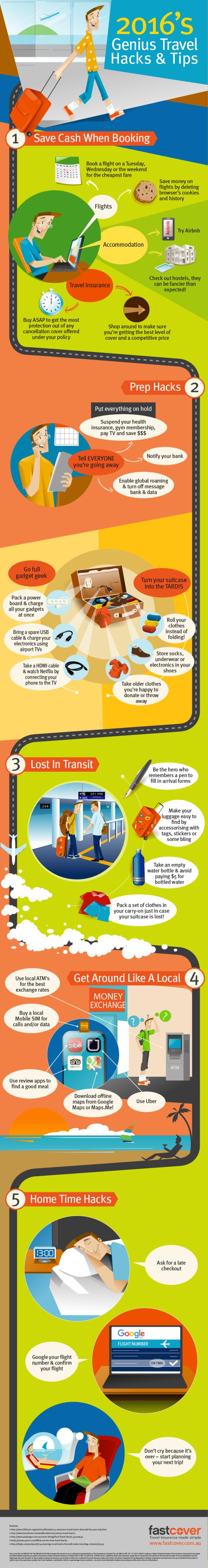 genius travel hacks & tips - better saving experience in 2016