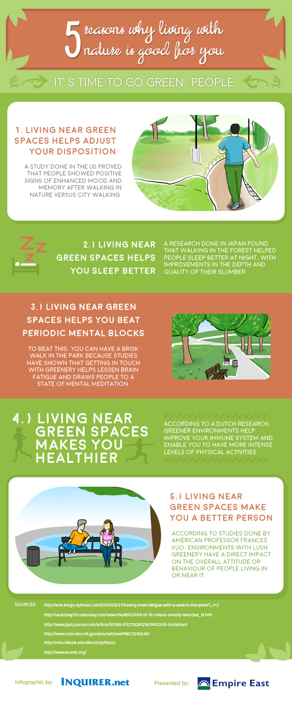 good reasons you must live with nature