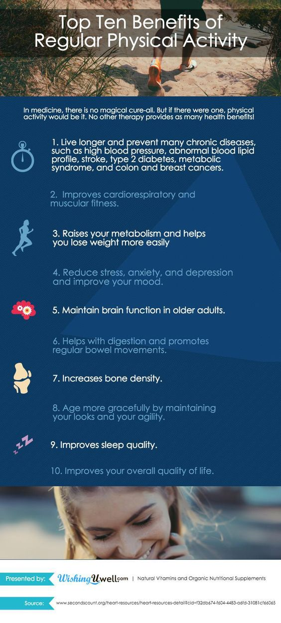 Benefits of physical exercises