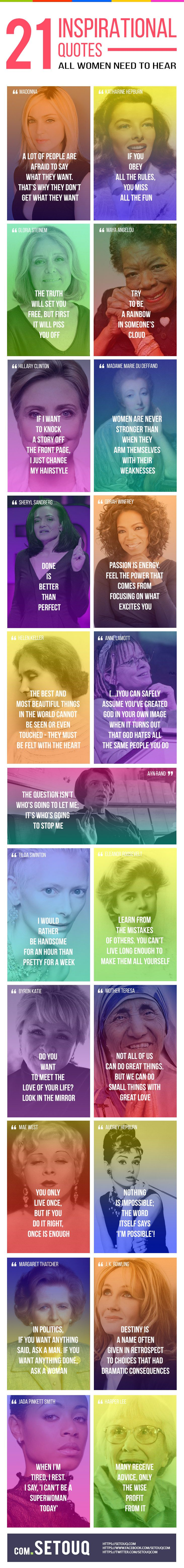 21 Inspirational quotes infographics