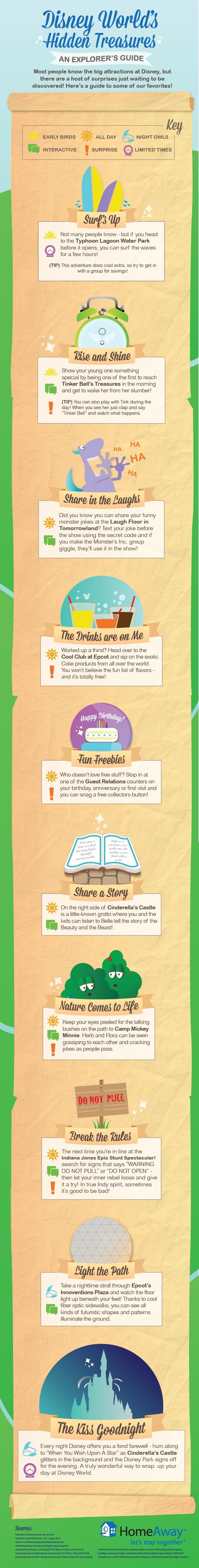 Disney World Hidden Treasures infographics