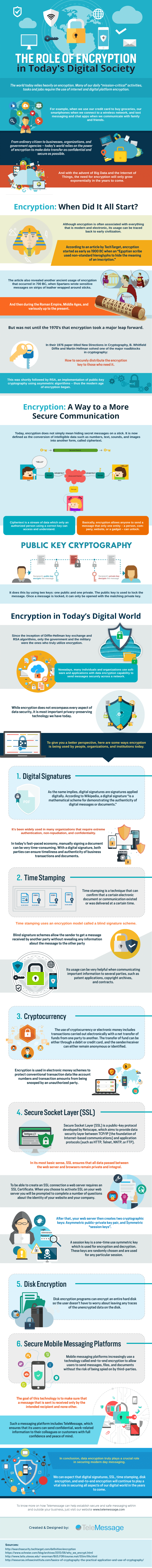 Encryption in Digital society Infographic