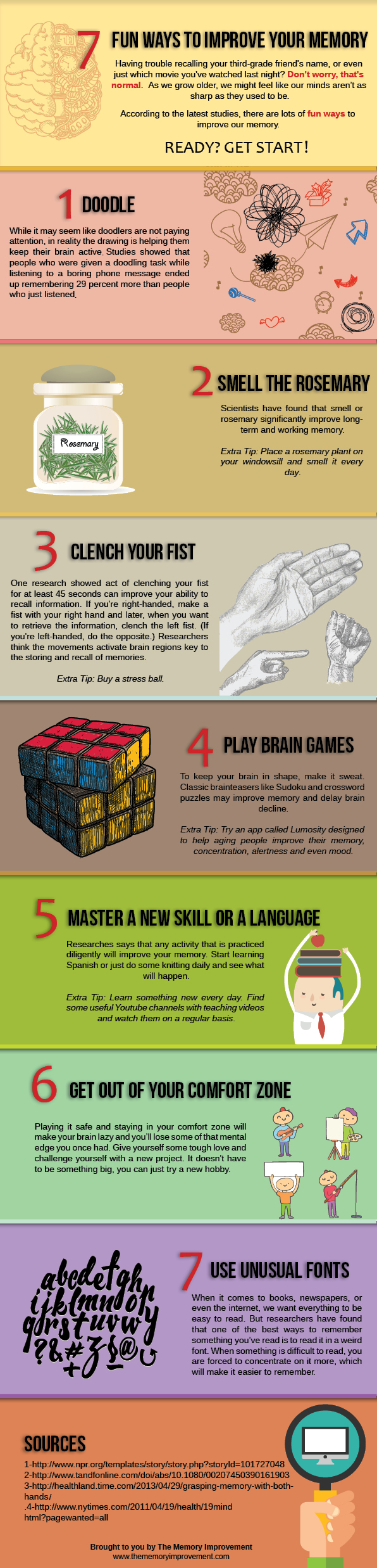 Improve Your Memory Infographic