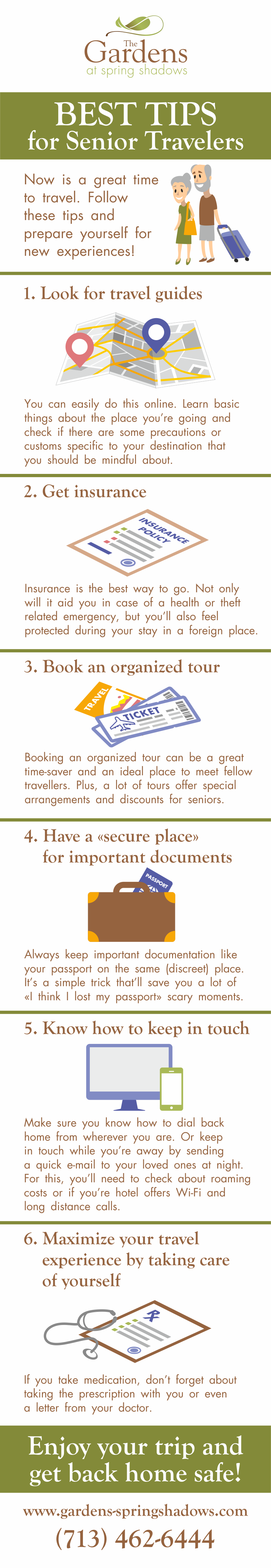 Tips for Senior Travellers infographic