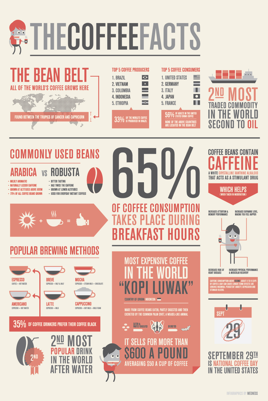 the coffee facts infographics