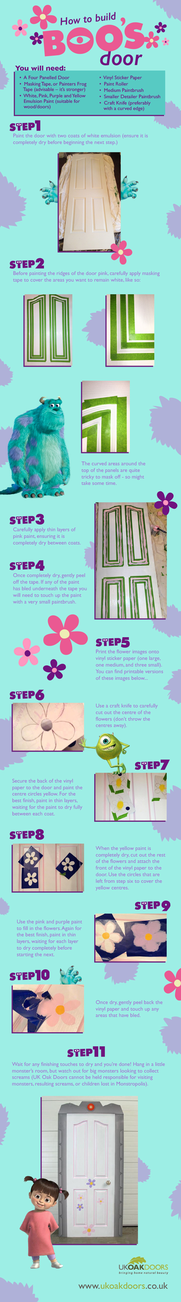 How to Build Boos Door MonstersInc