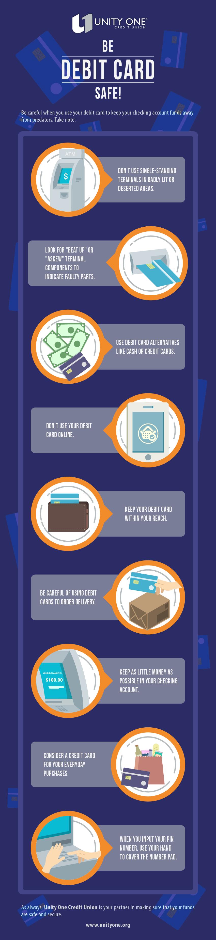unity one debitcard infographic