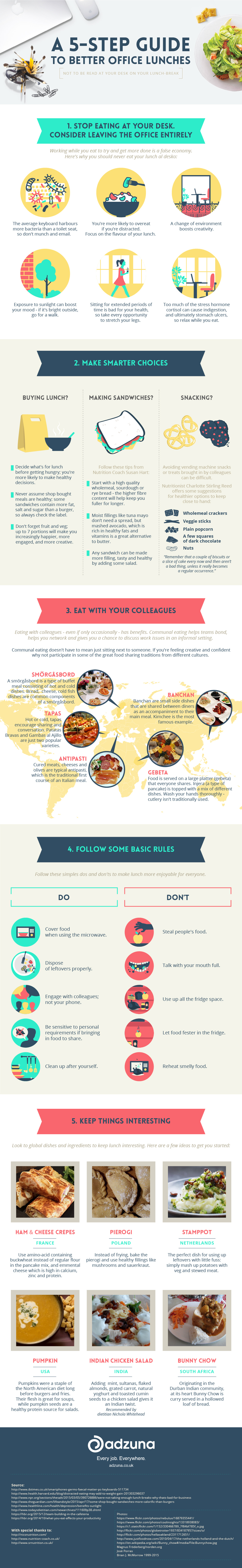 Guide To Better Office Lunches Infographic
