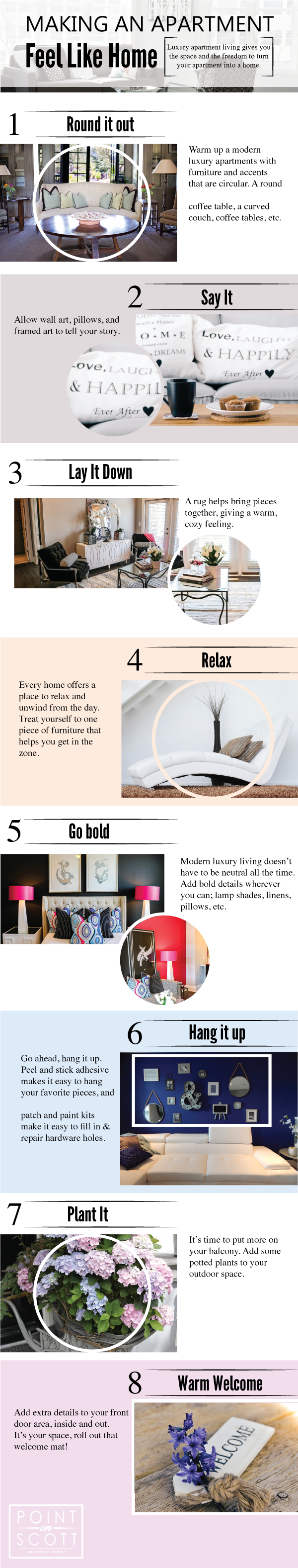 Making an Apartment Feel like Home Infographic