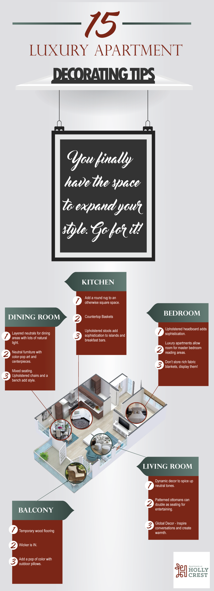 Luxury Apartment Decorating Tips Infographic