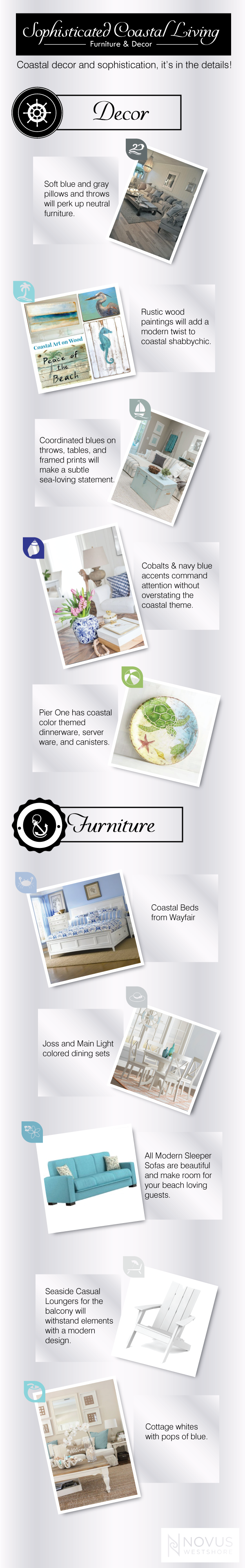 Coastal Furniture and Decor Infographic