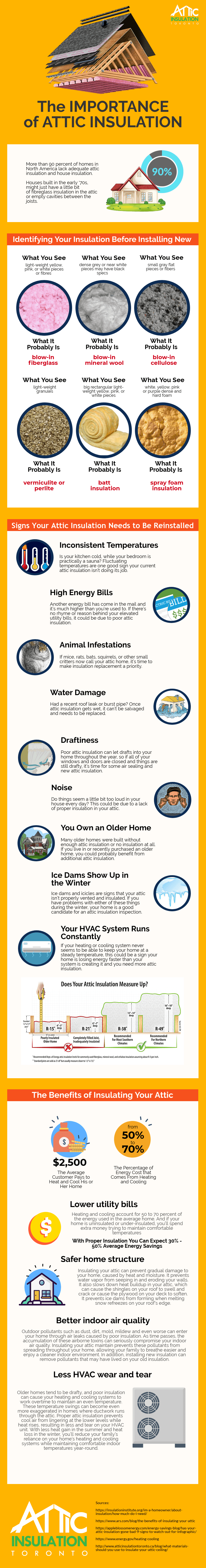 Importance of Attic Insulation Infographic