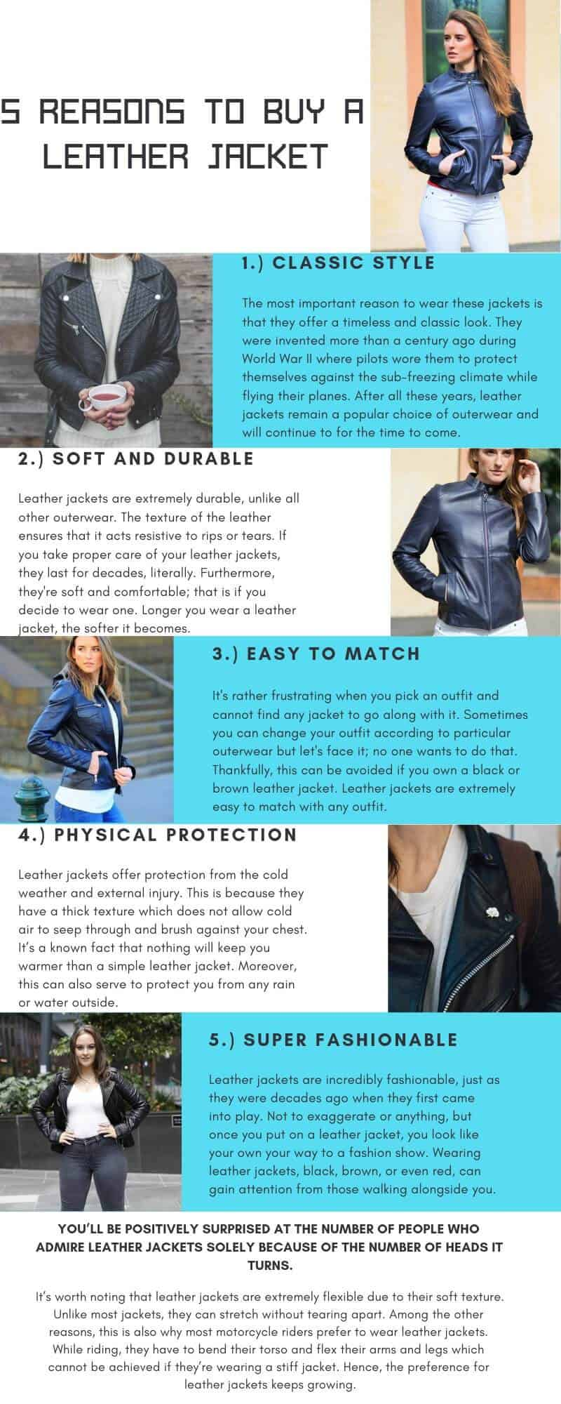 5 Reasons to buy a leather jacket