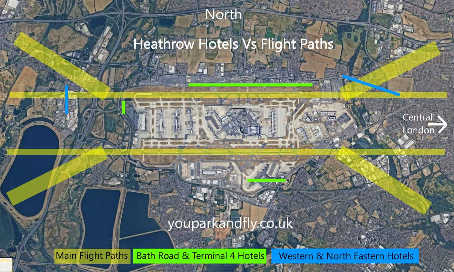 Heathrow Flight Map